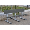 6 ft. Gray Portable Madison Bench with Galvanized Frame