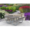 Frog Furnishings 8 ft. Gray Galvanized Frame Picnic Table