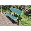 Frog Furnishings 6 ft. Green In-Ground Madison Bench with Black Frame