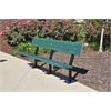 Frog Furnishings 6 ft. Green Surface Madison Bench with Black Frame