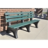 4 ft. Green Central Park Bench