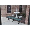 Frog Furnishings 6 ft. Green Creekside Bench