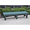 Frog Furnishings 6 ft. Green Garden Bench