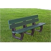 Frog Furnishings 6 ft. Green Petrie Bench
