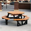 Frog Furnishings 6 ft. Cedar Hex Table
