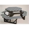 Frog Furnishings 6 ft. Gray Hex Table