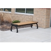 8 ft. Cedar Heritage Backless Bench with Green Frame