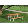 Frog Furnishings 8 ft. Cedar Galvanized Frame Picnic Table
