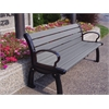 Frog Furnishings 6 ft. Gray Heritage Bench with Black Frame