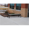 Frog Furnishings 6 ft. Gray Heritage Backless Bench with Black Frame