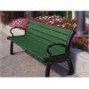 Frog Furnishings 8 ft. Green Heritage Bench with Black Frame