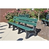 Frog Furnishings 8 ft. Green Colonial Bench