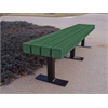 Frog Furnishings 4 ft. Green Trailside Bench