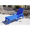 Frog Furnishings Blue Pensacola Chaise Lounge