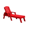 Red Pensacola Chaise Lounge