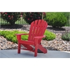 Frog Furnishings Red Seaside Chair