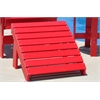 Frog Furnishings Red Traditional Ottoman