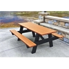 Frog Furnishings 6 ft. Cedar A Frame Picnic Table