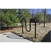 Frog Furnishings 3 Loop, Black, In-Ground Bike Rack