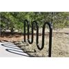 Frog Furnishings 5 Loop, Black, In-Ground Bike Rack