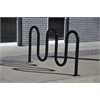 Frog Furnishings 5 Loop, Black, Surface Bike Rack