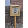 Cedar Small Hinged Message Center with One Side, One Post