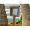 Frog Furnishings Cedar Small Message Center with One Side, One Post