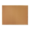 "Wood Frame Cork Board - 36"" Height x 48"" Width - Brown Cork Surface - Oak Frame - 1 Each"