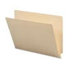 "Straight End Tab Manila Folder - Letter - 8 1/2"" x 11"" Sheet Size - Manila - Recycled - 100 / Box"