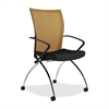 "Mayline Valore TSH1 High Back Chair with Arms - Fabric Orange Seat - Chrome Black Frame - 23"" x 24"" x 36.5"" Overall Dimension"