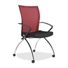 "Valore TSH1 High Back Chair with Arms - Fabric Red Seat - Chrome Black Frame - 23"" x 24"" x 36.5"" Overall Dimension"