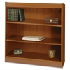 "Square-Edge Bookcase - 36.0"" x 12.0"" x 36.8"" - Particleboard, Wood - 3 x Shelf(ves) - Medium Oak"