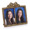 Modern Day Accents Arco Atq Brass Double Photo Frame