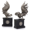 Gallos Pelea Rooster Bookends - Pair