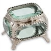 Joya Sq. Metal/Glass Jewelry Box