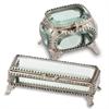 Joya Rect. Metal/Glass Jewelry Box