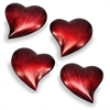 Corazon SM Heart Paperweight - Set of 4