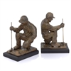Modern Day Accents Copa Golfer Bookends