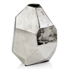 Modern Day Accents Faceta Raw Silver Bud Vase