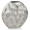 Modern Day Accents Facetado Round Silver Vase