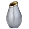 Modern Day Accents Sedoso Gray & Gold Round Vase