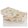Huseo Blanco Golden Bone Boxes - Set of 2