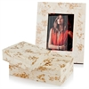 Huseo Blanco Golden Bone 5x7 Photo Frame