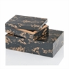 Huseo Negro Golden Bone Boxes - Set of 2