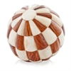 Modern Day Accents Ajedrezado Checkered Bone Sphere