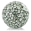 Modern Day Accents Crepita Silver Glass Sphere