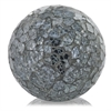 Modern Day Accents Crepita Black Glass Sphere