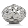 Modern Day Accents Abollado LG Squat Silver Vase