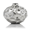 Modern Day Accents Abollado SM Squat Silver Vase