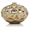 Modern Day Accents Abollado LG Squat Gold Vase